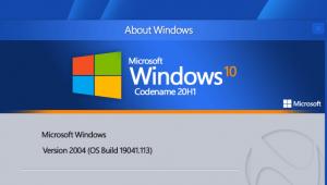 Windows 10 version 2004